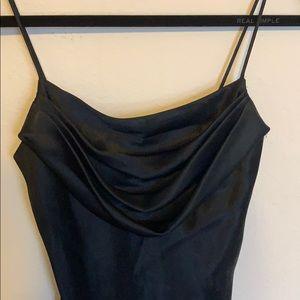 Black floor length formal dress